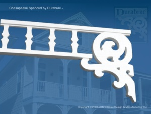 Chesapeake Spandrel by Durabrac showing bracket at the end and not underneath.