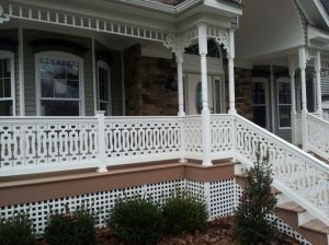 Durabrac Spandrel and Sawn Balusters complement each other perfectly, providing a complete gingerbread look.