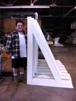 6 feet tall custom Builder Brackets
