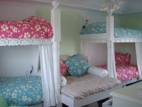 Caribbean Lace Running Trim spruces up these bunkbeds.