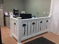 Balastrada Palmera Sawn Baluster makes a great office divider.