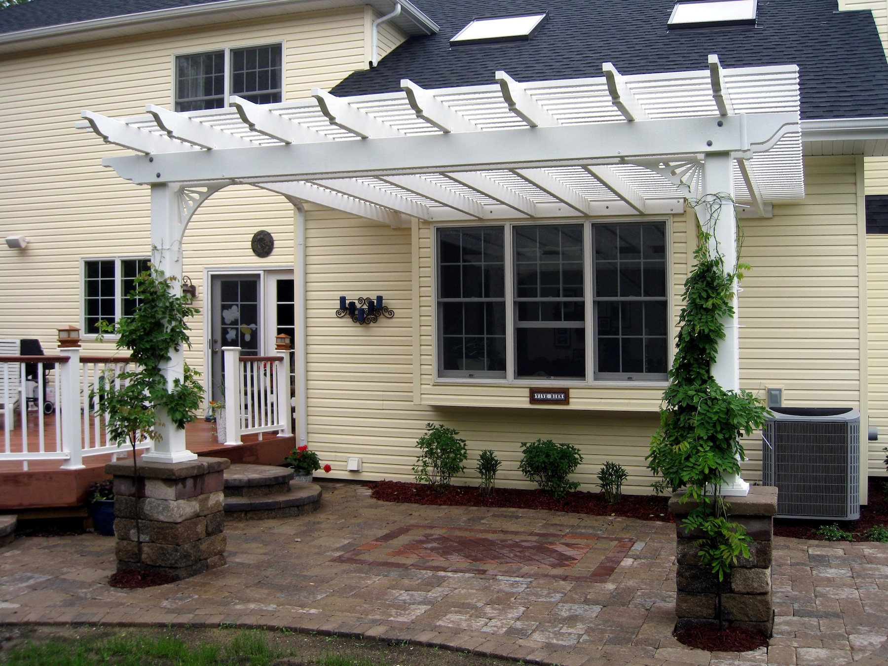 inc porch portfolio pvc wooden brackets boys hardie